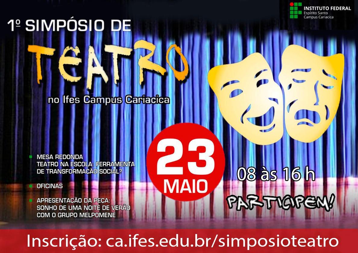 1º Simpósio de Teatro no Ifes