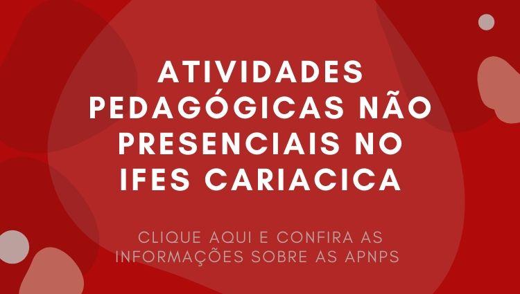 Atividades Pedagógicas Não Presenciais no Ifes Cariacica