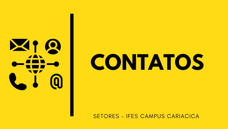 Contatos dos setores do Ifes Campus Cariacica