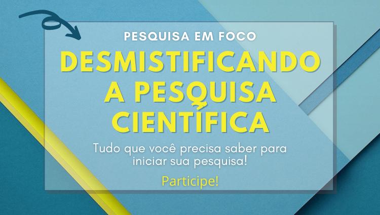 Campus Cariacica promove evento sobre pesquisa científica. Participe!